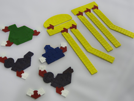 Image of some pieces of the Molecular Puzzle Kit