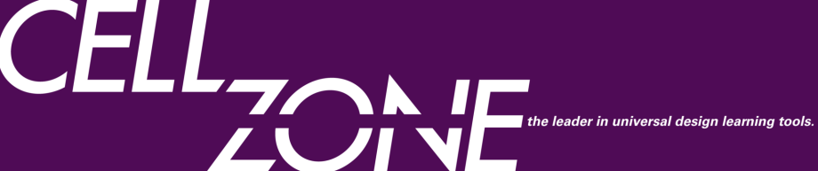 Cell Zone logo with tagline: the leader in universal design learning tools